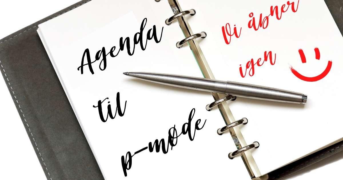 Agenda til p-møde